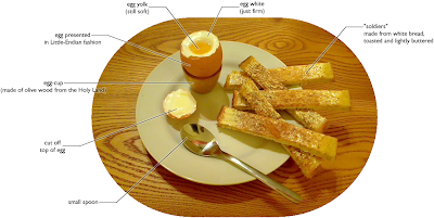 how to cut the top off a soft boiled egg