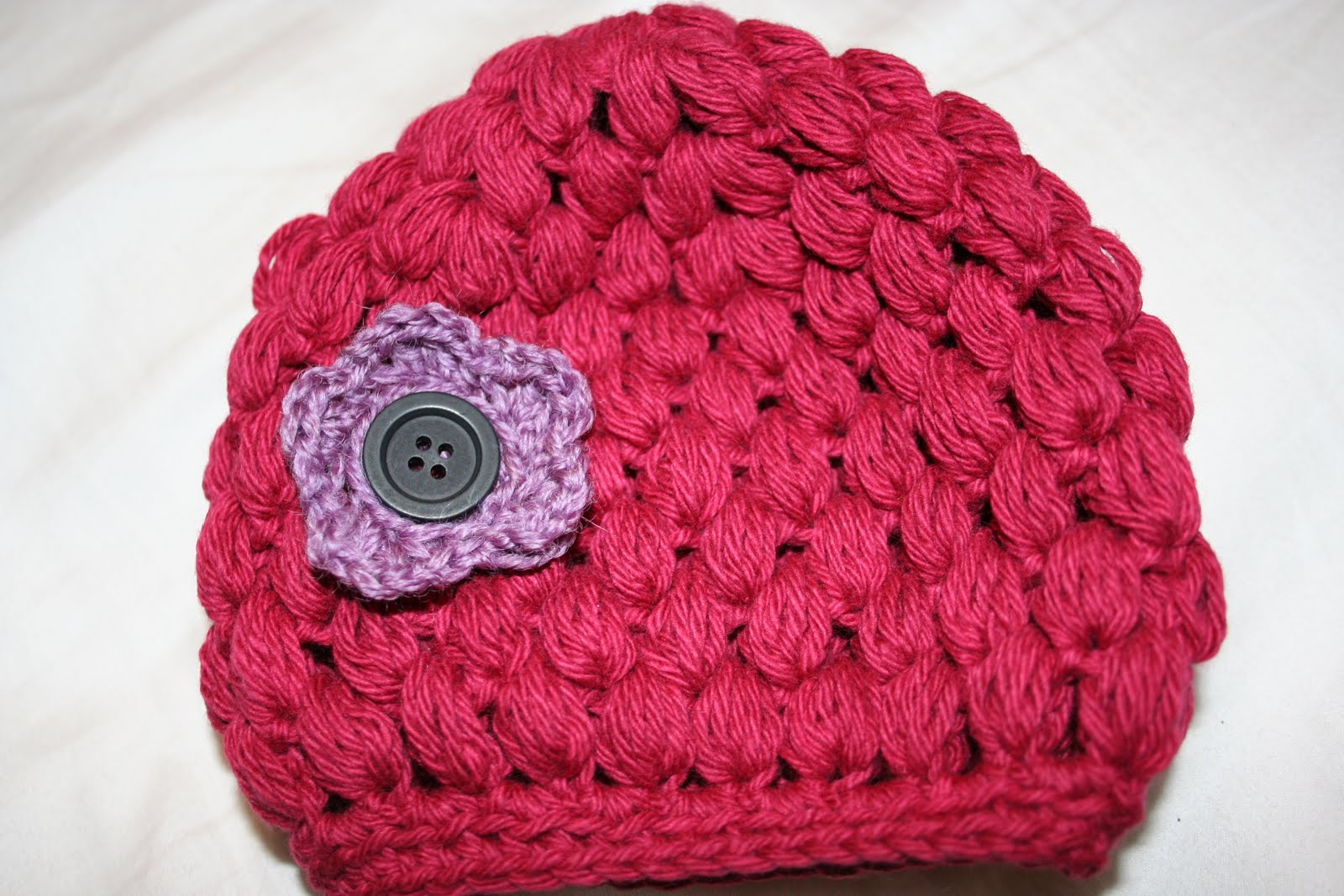 Knit Popcorn Stitch Hat Pattern : Knit-Whits: Puff Stitch Crocheted Baby Hat