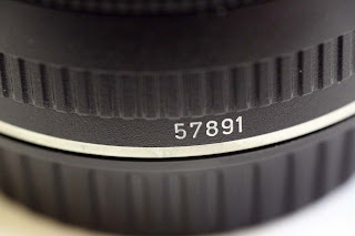Serial number on the barrel of the EF15mm f/2.8 Fisheye lens