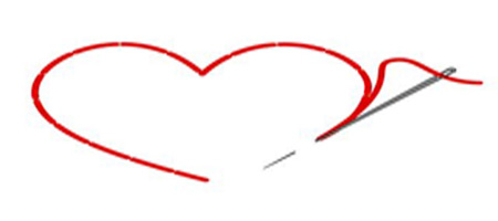 Cosemos con hilo rojo nuestros corazones