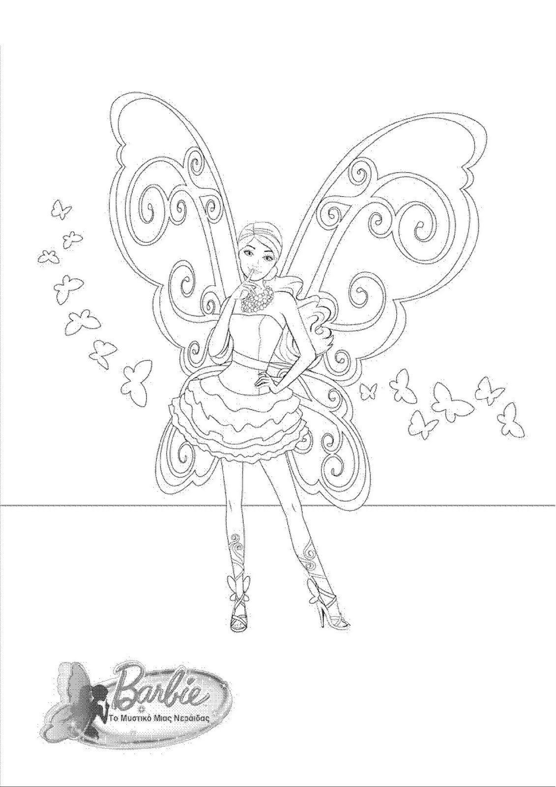 Barbie a fairy secret coloring page barbie movies 18650276 1654 2339