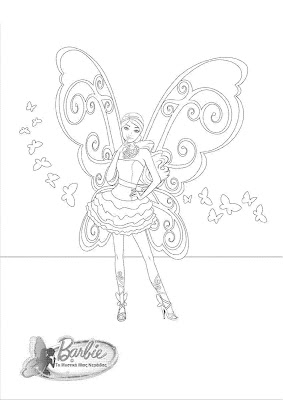 barbie fairy coloring pages free - barbie princess charm school coloring pages games