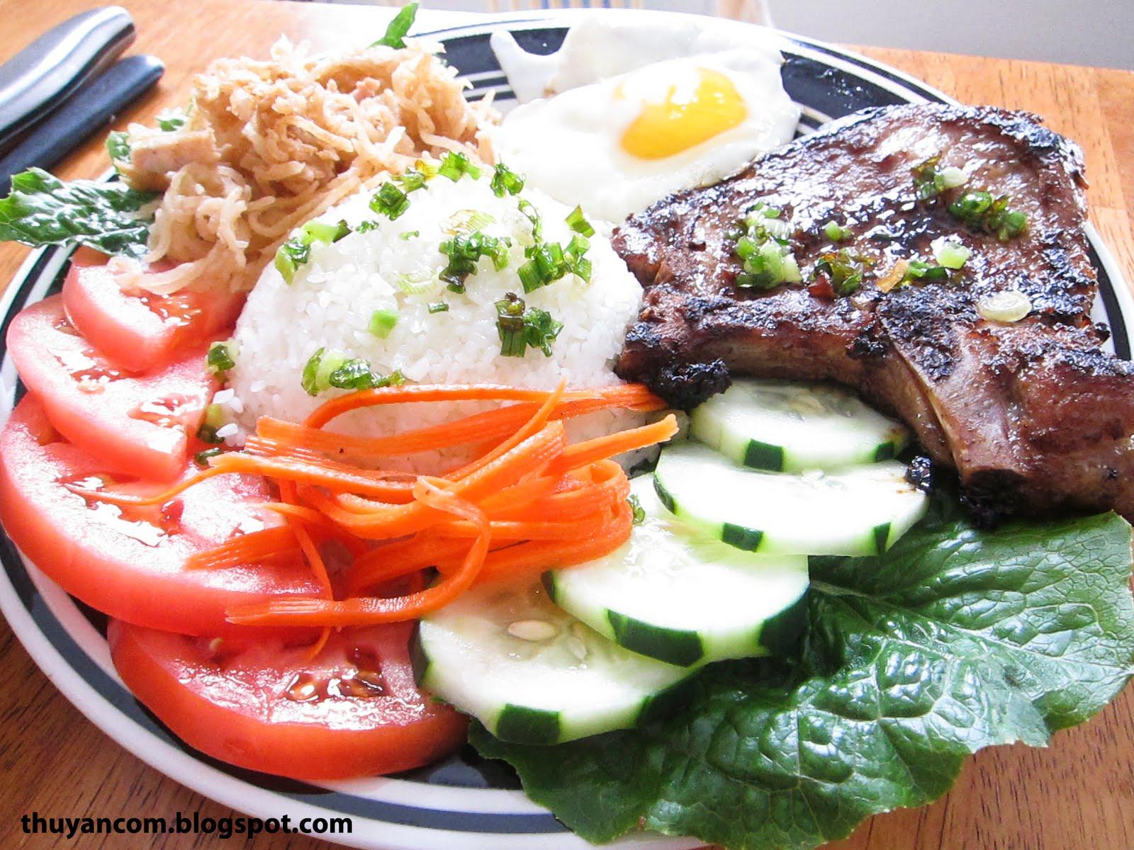 Broken rice pork chop vietnamese recipe