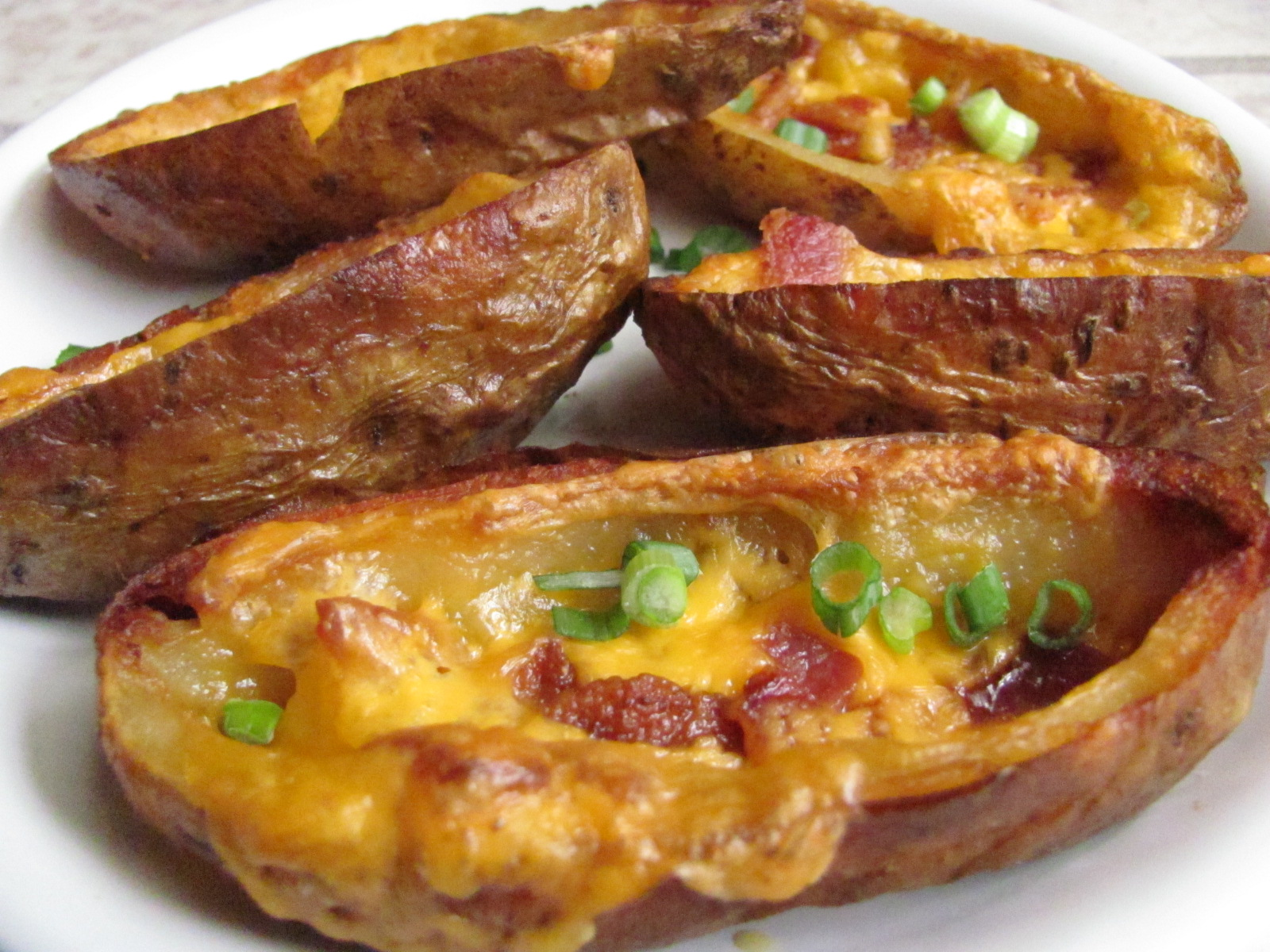 Easy Cheesy Potato Skins Printable recipe