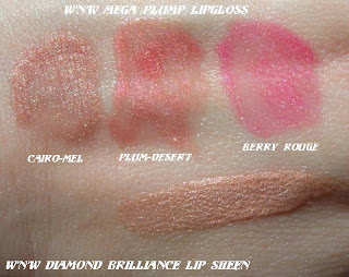 wnw wet'n'wild mega plump lipgloss swatches