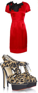 dolce & gabbana dress charlotte olympia shoes