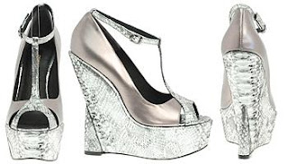 ASOS snaksin metallic wedges