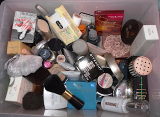 The filled, dirty, messy drawer