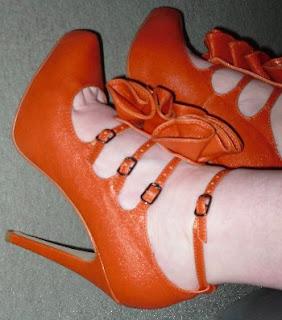 matalan ruffle louboutin style shoes
