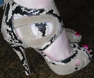 Peacocks snakeskin shoes