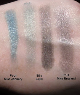 stila kajiki pout miss january miss england swatches