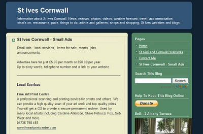 St Ives Cornwall - Small Ads