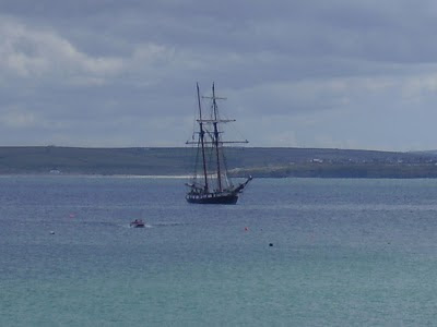 Sailing Ship - St Ives Bay
