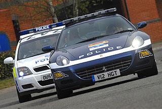 British Police 540-HP 612 Ferrari Scaglietti HGTS