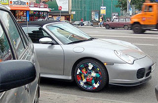 New Porsche tyres design from Russia, Moscow