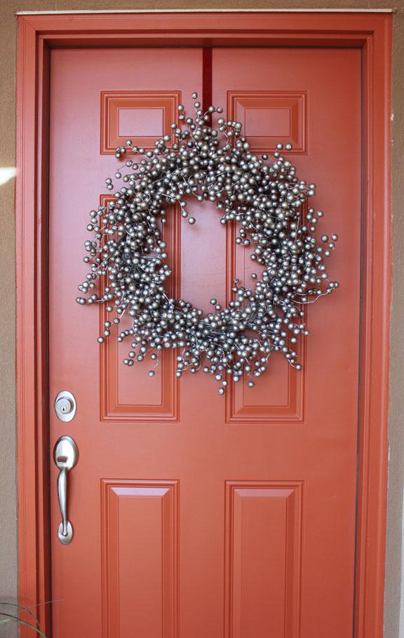 Make over door wreath hanger