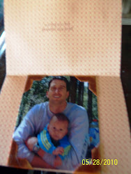 Inside the First Father's Day card