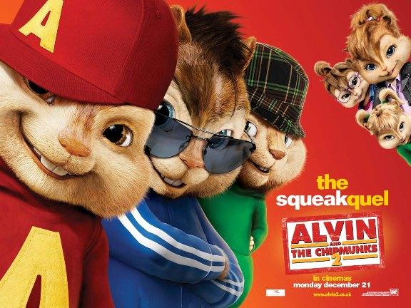 The Chipettes in the movie Alvin and the Chipmunks 2