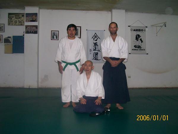 Sensei Stern, Sensei Kurata y Martin Gomez