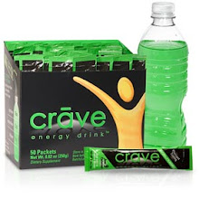 CRAVE, the energy drink, I use to get me through the afternoon.