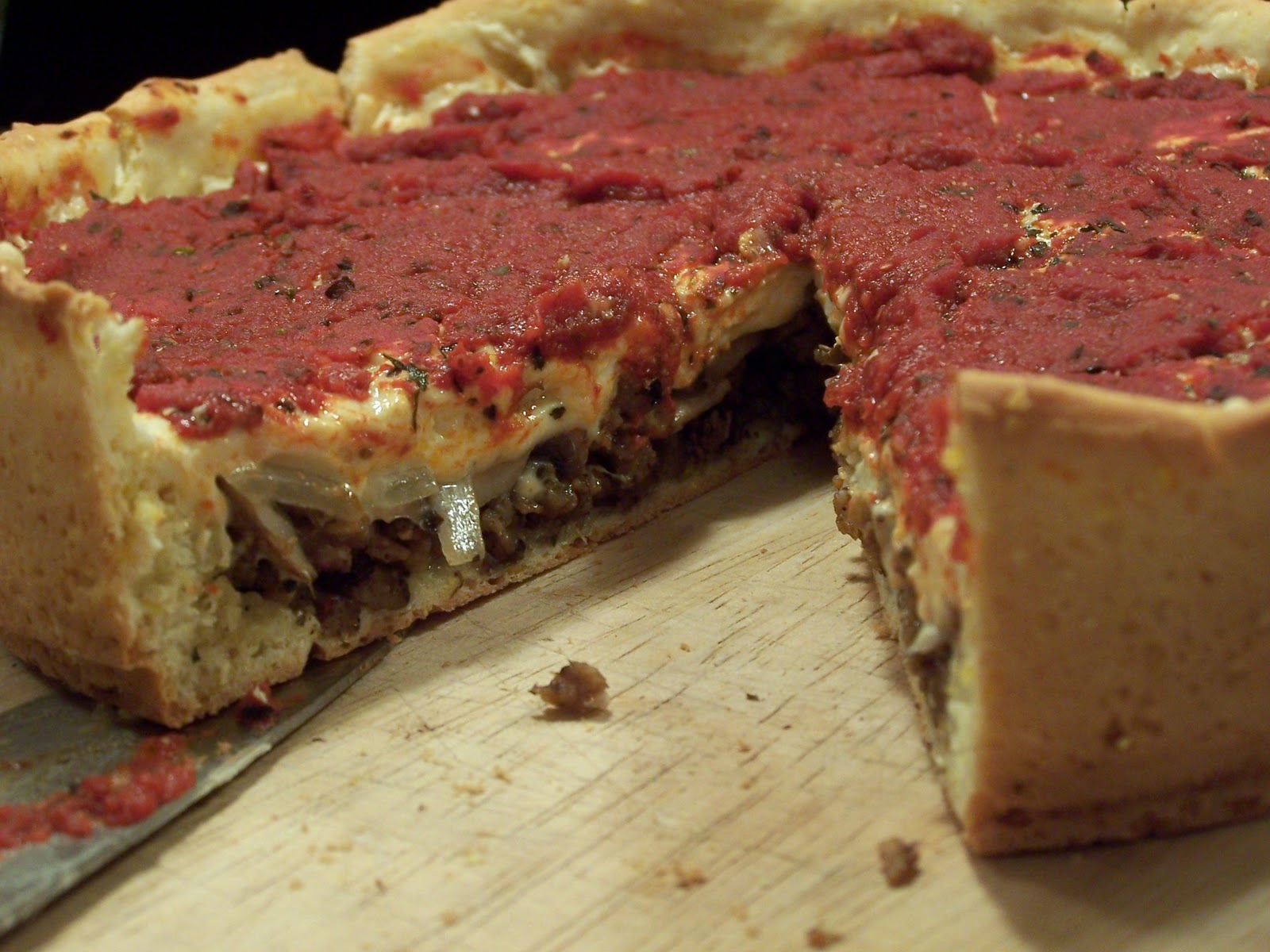 Vegan Miss Deep Dish Pizza