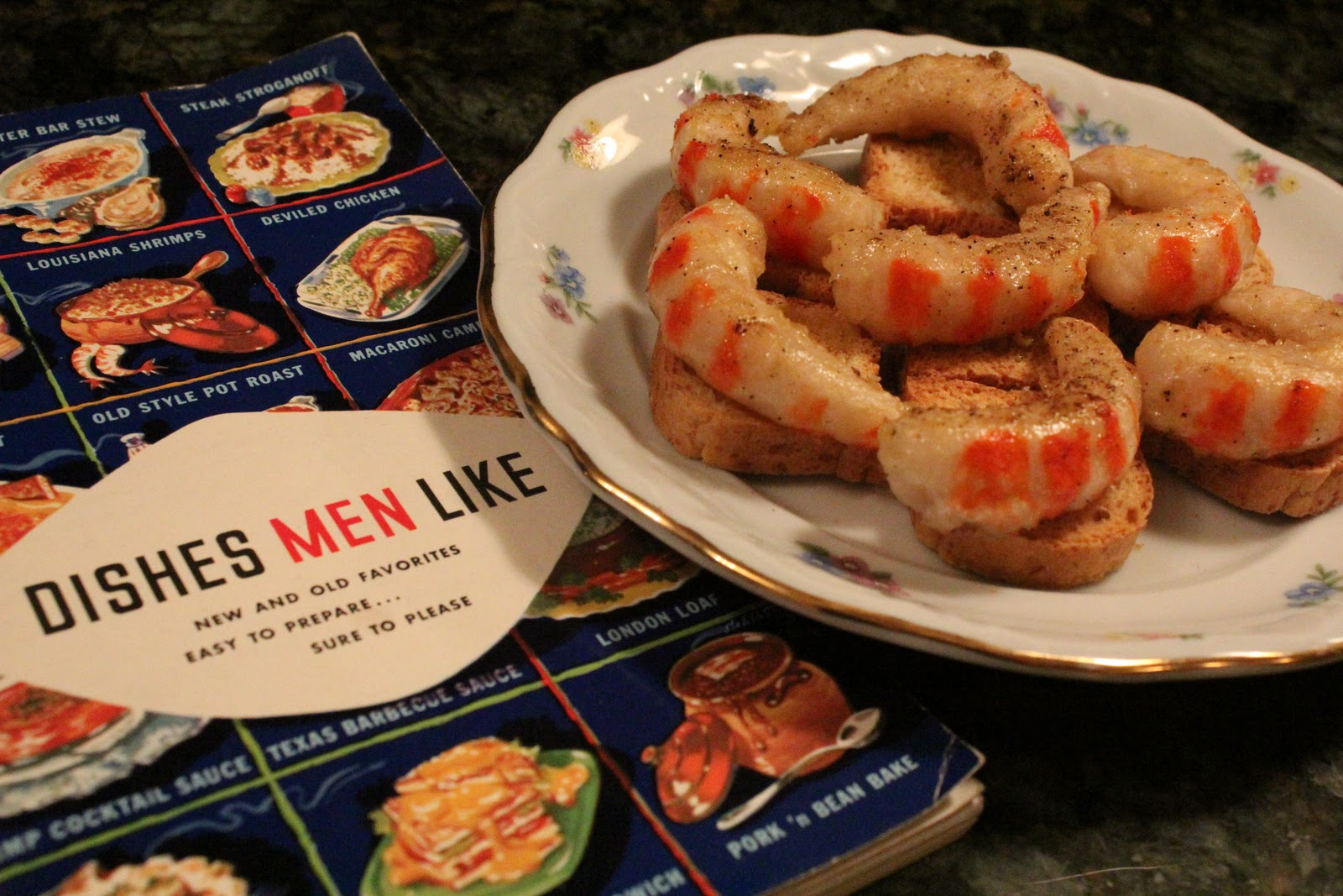... the Bee's Knees, Daddy!: Dishes Men Like: Shrimp Canapes & Crab B...