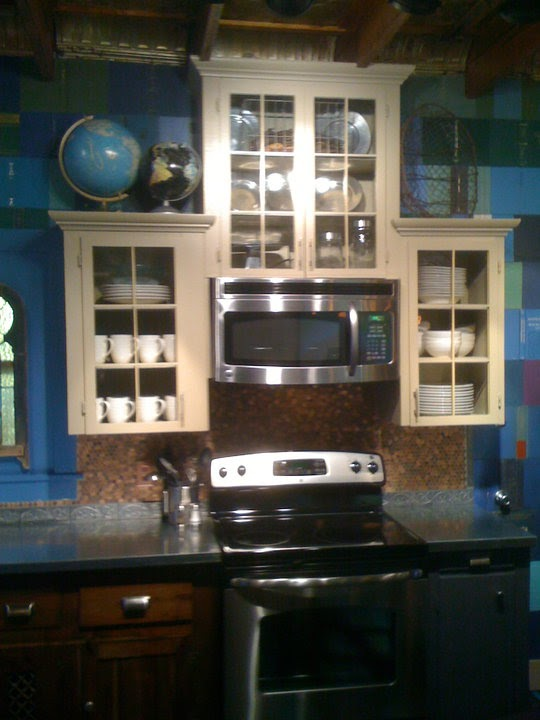 copper penny backsplash - Penny Backsplash Model