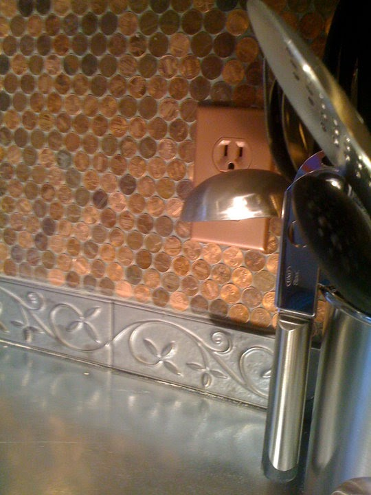 the mama crow copper penny backsplash