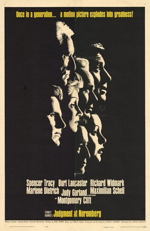 79 - JUDGMENT AT NUREMBERG. United Artists, 1961. Director: Stanley Kramer