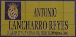 La inauguración de la calle a la víctima de ETA Antonio Lancharro Reyes