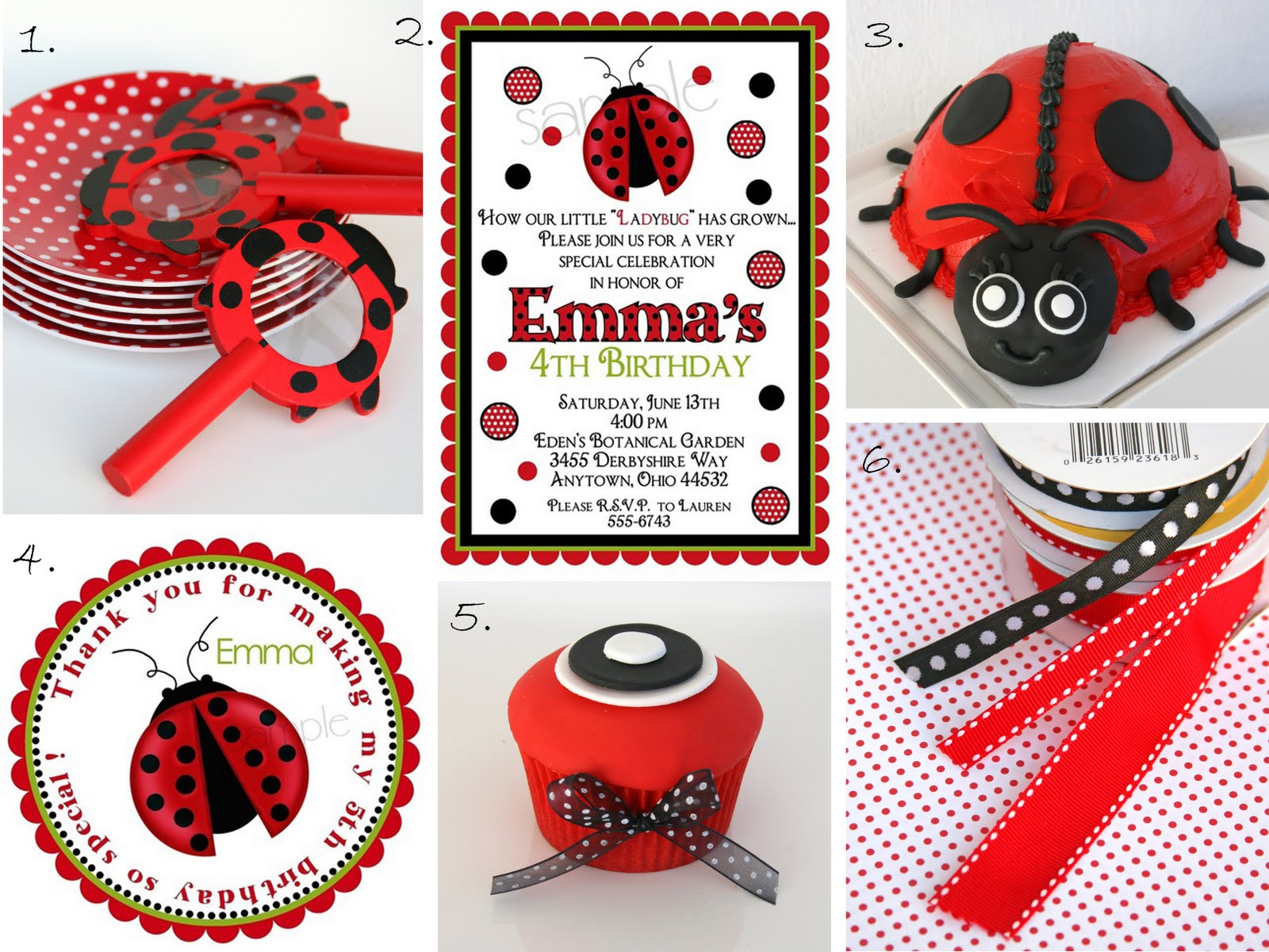 Ladybug Table Decorations