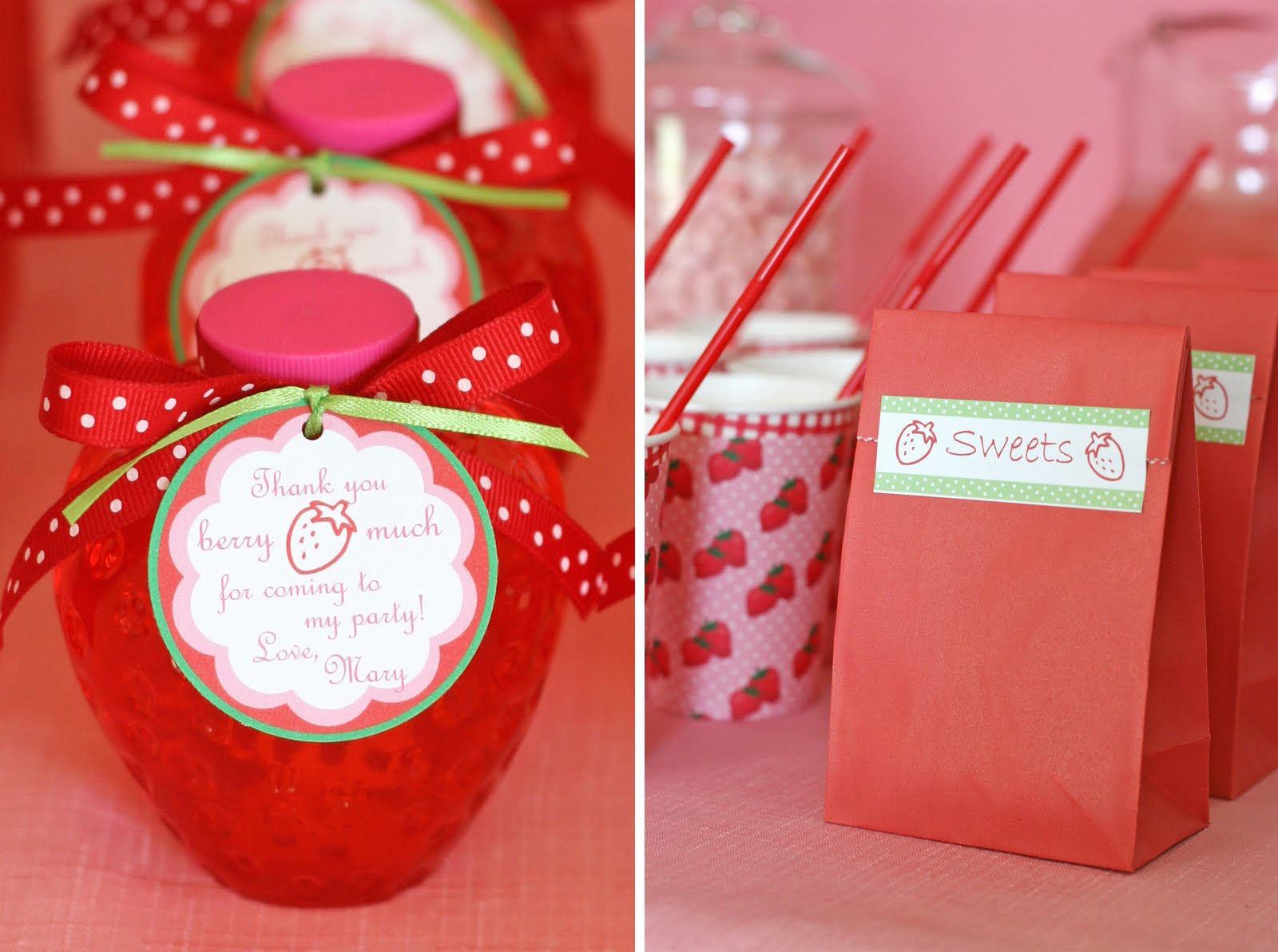 Strawberries Party Favors Ideas