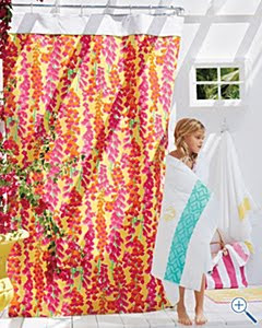 My Friends At Garnet Hill Have Generously Offered To Send One Of These Delightful Shower Curtains Lucky Maryland Pink And Green Reader