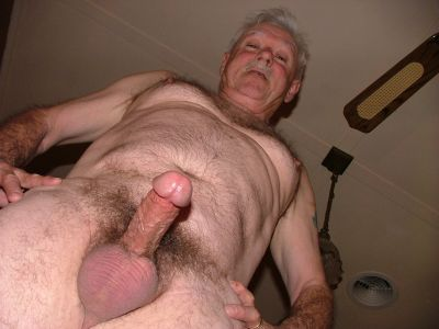 Old man with big hard cock