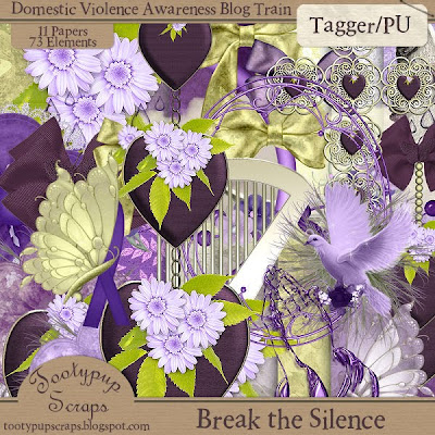"Scrapbook Freebie ""Break the Silence"" by tootypupscraps"