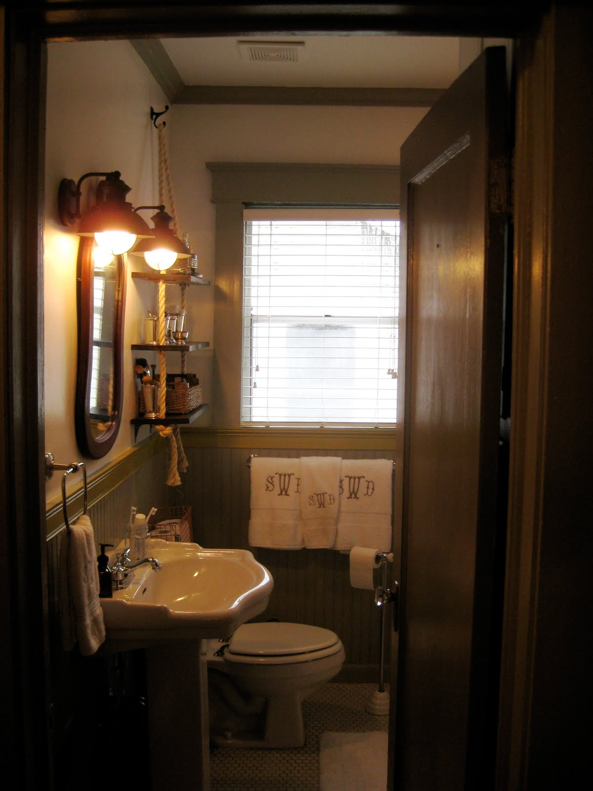 A Walk Through Small Bathroom Makeover