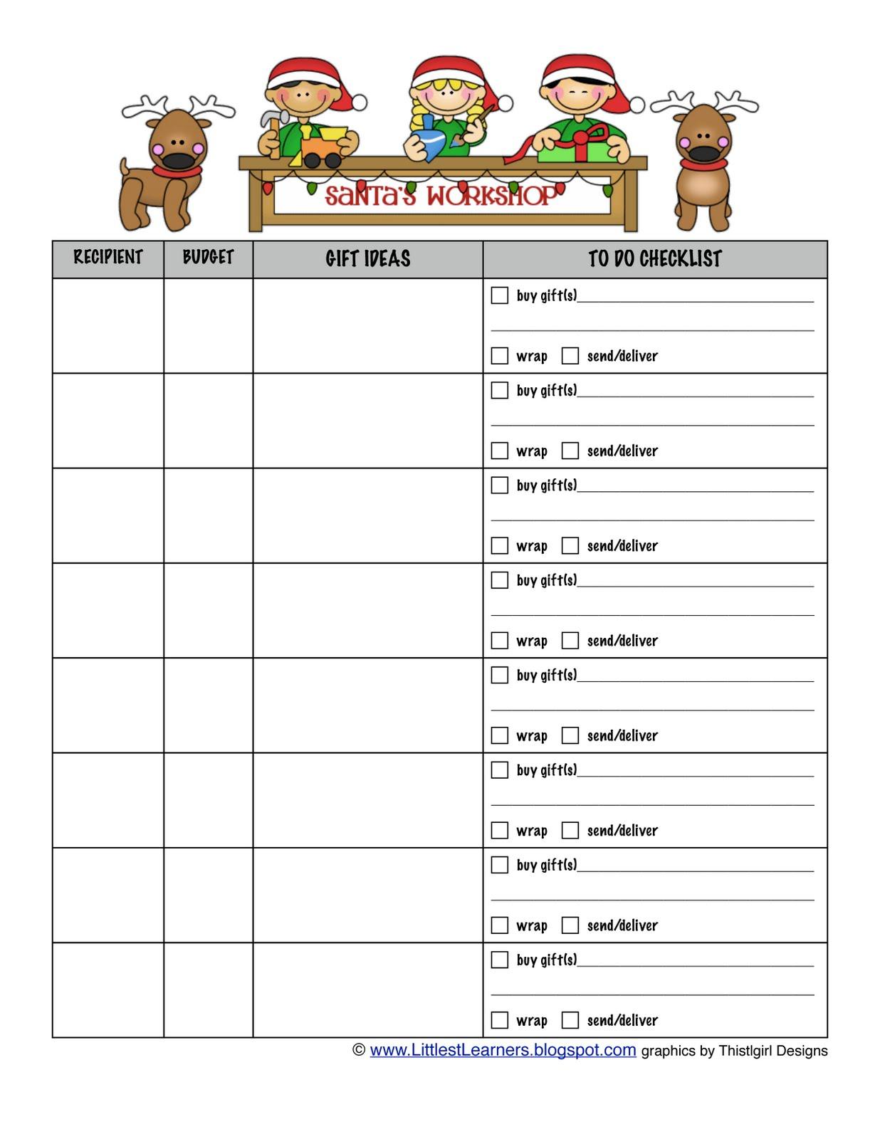 christmas list template for kids – Kids Christmas List Template