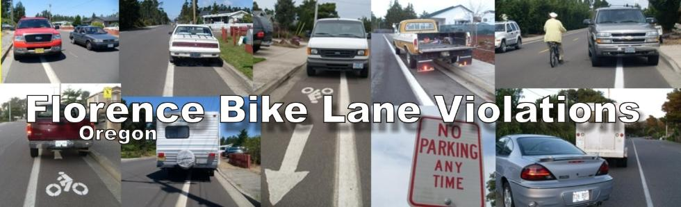Bike Lane Violations Florence Oregon Parking