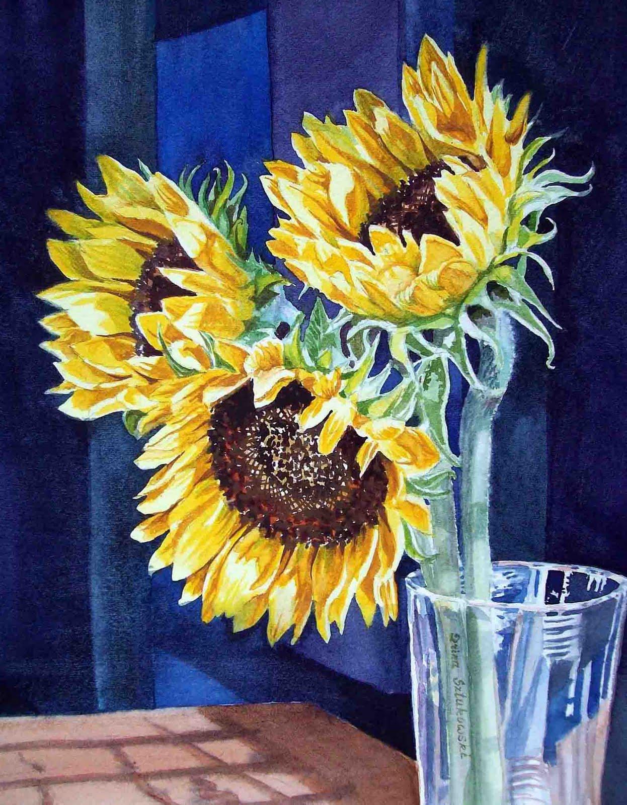 Irina sztukowski fine art sunflower painting for How to paint a sunflower on canvas