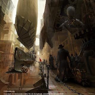 steampunk artwork - Odysseus' Departure