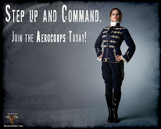 steampunk aircorp recruit poster