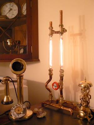 steampunk lamp by Professor Fzz