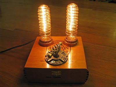 steampunk lamp by Michael Pusateri