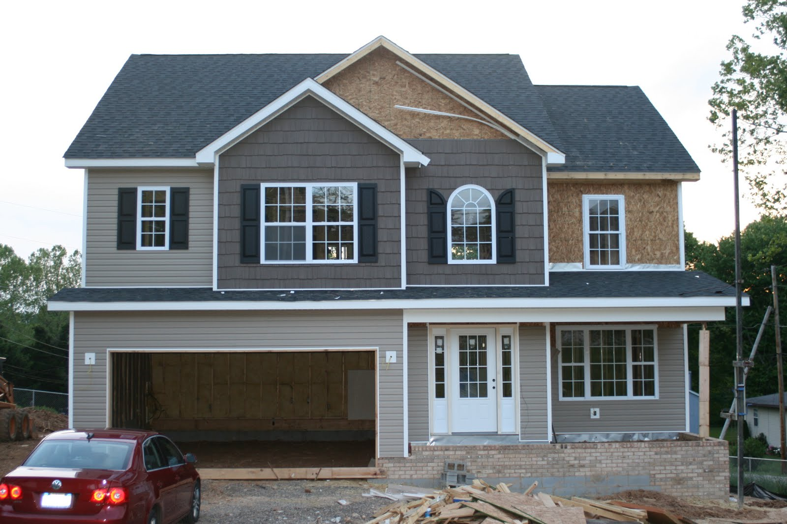 New House Construction Progress: Shaker Siding