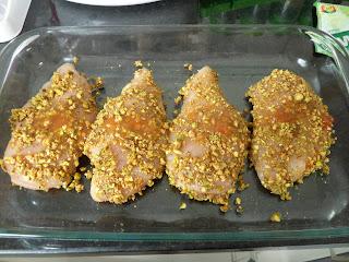 Frango em crosta de Pistache e risoto de agrião!!! 7