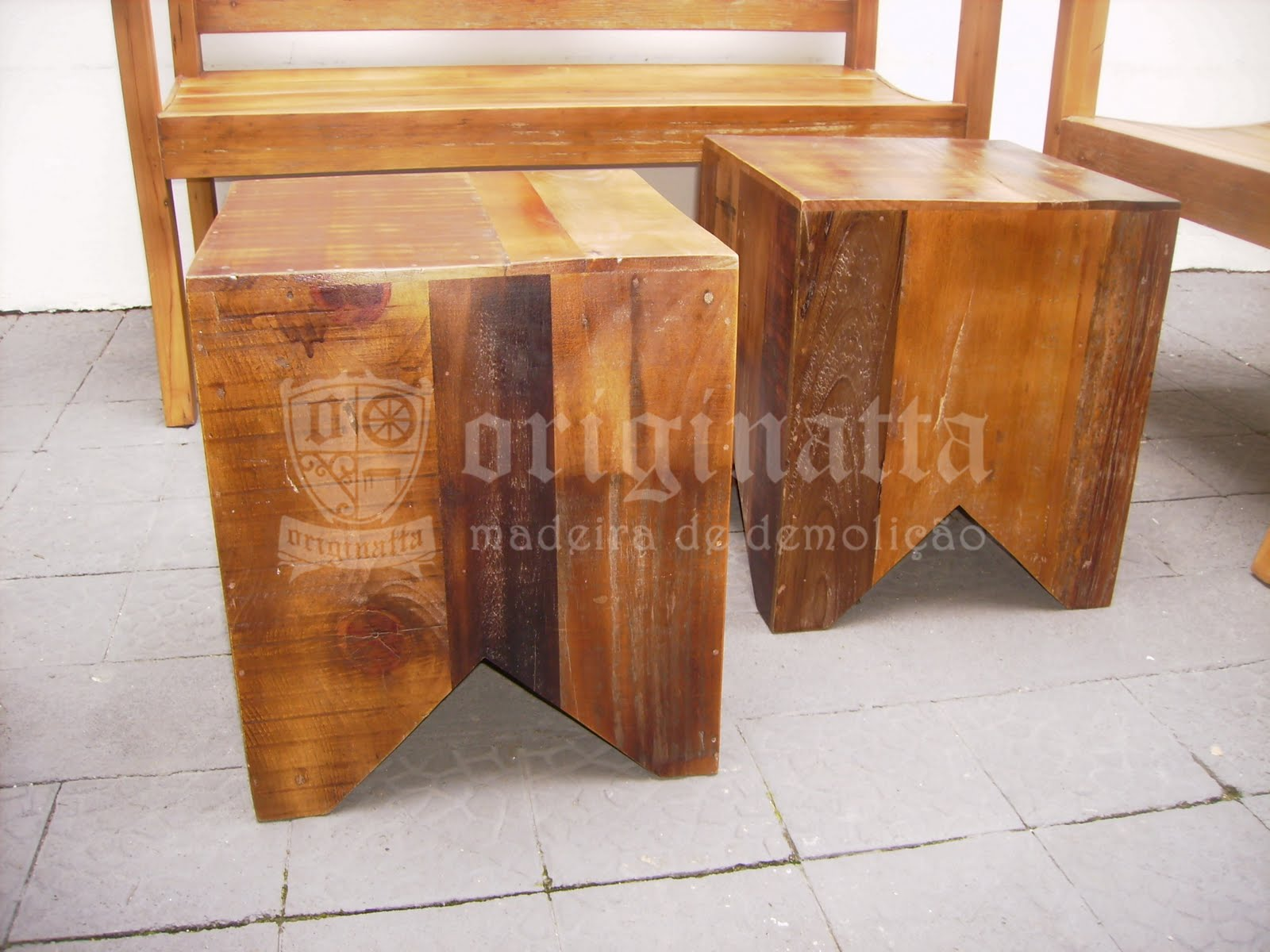 Bancos e banquetas em madeira de demolição todos os modelos podem  #9E702D 1600x1200