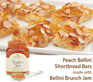 Indulge yourself even more with these tasty Peach Bellini Shortbread ...