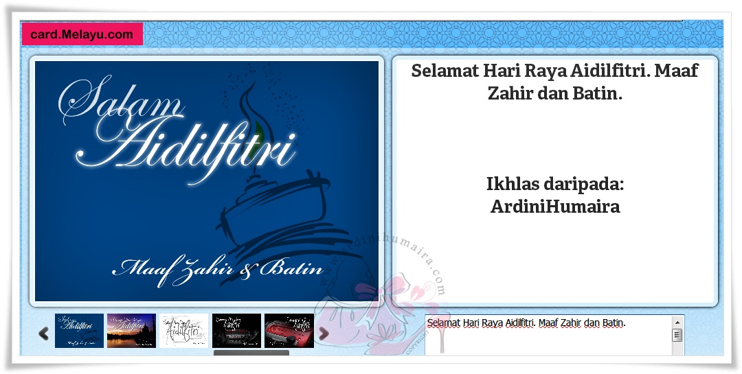 Kad Raya Online | Card.Melayu.com