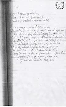 carta escrita supuestamente por abuela no vidente.