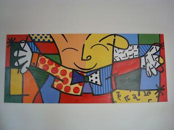 Releitura da obra do artista brasileiro Romero Brito
